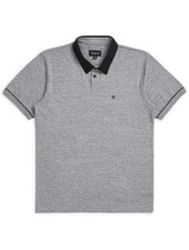 Brixton Grey/Black Carlos Knit Polo Tee
