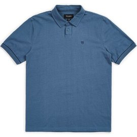 Brixton Blue Carlos Knit Polo Tee
