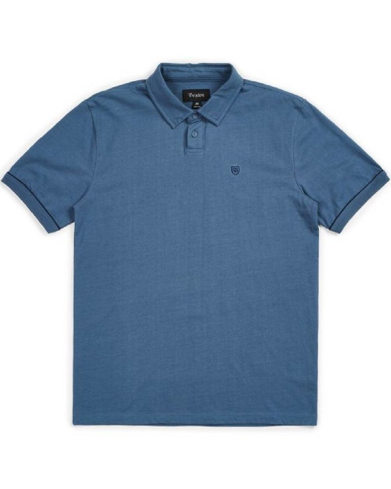 Brixton Blue Carlos Knit Polo Tee
