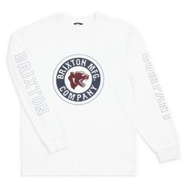 Brixton White Long Sleeve Forte IV Tee