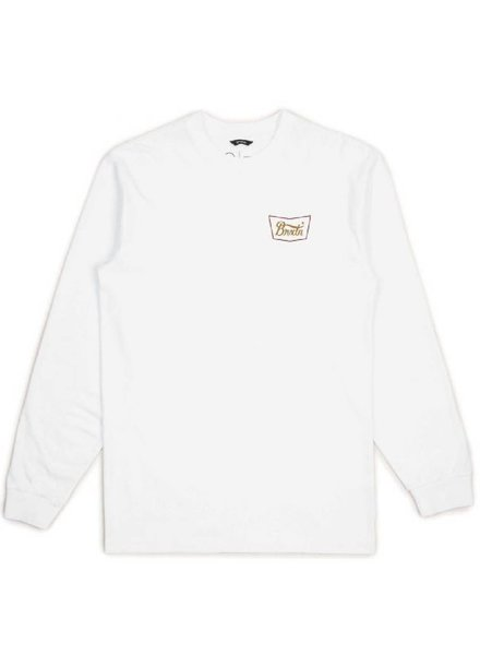 Brixton White Long Sleeve Stith VII Tee