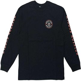 Brixton Brixton Black/Gold Long Sleeve Oath IV Tee