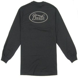 Brixton Black Long Sleeve Parsons II Tee