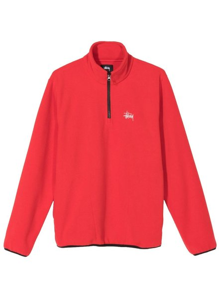 Stüssy Red Polar Fleece Mock