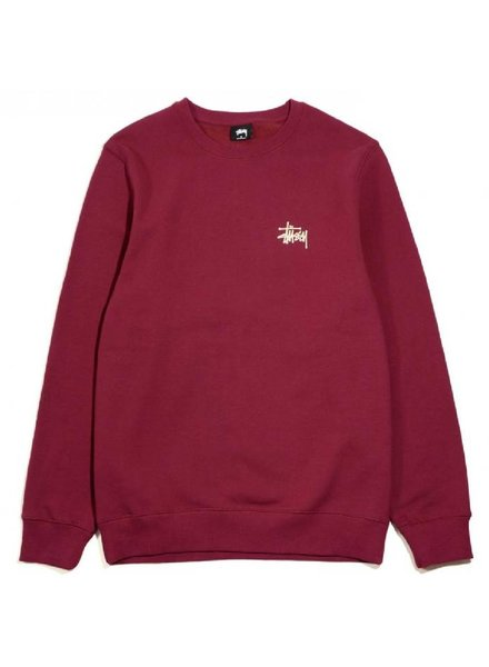 Stüssy Wine Basic Crew