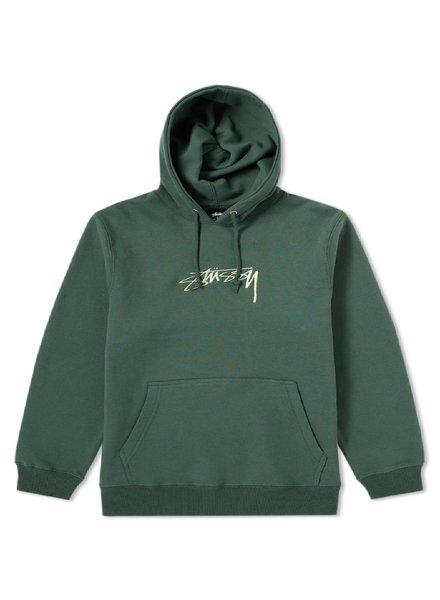 Stüssy Green Stock Logo Hoodie