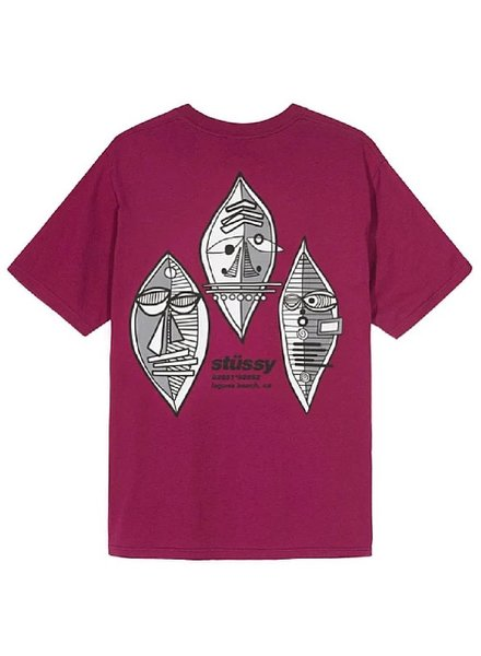 Stüssy Wine Triple Mask Tee