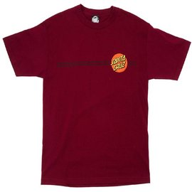 Santa Cruz Skateboards Burgundy Classic Dot Tee