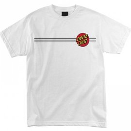 Santa Cruz Skateboards White Classic Dot Tee
