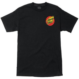 Santa Cruz Skateboards Black Flaming Hand Tee