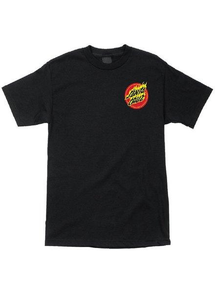 Santa Cruz Skateboards Black Flaming Hand Tee
