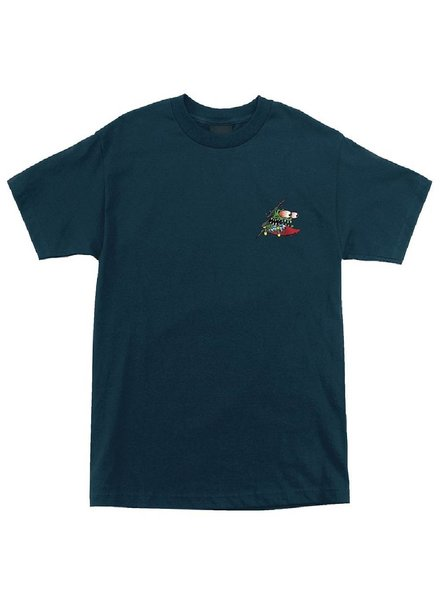 Santa Cruz Skateboards Blue Slashed Tee