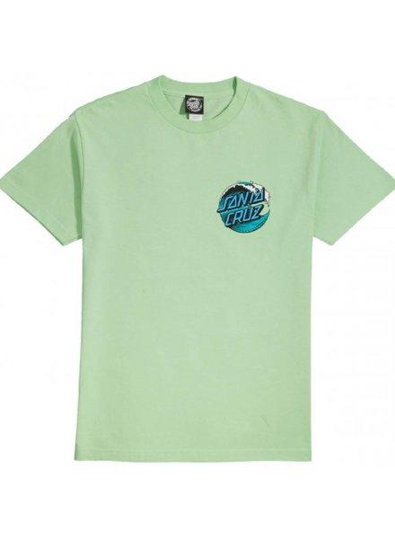Santa Cruz Skateboards Mint Green Wave Dot Tee