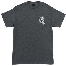 Santa Cruz Skateboards Charcoal Heather Grey Screaming Hand Tee