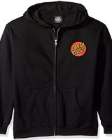 Santa Cruz Skateboards Black Classic Dot Zip Hoodie
