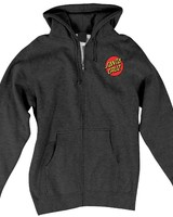 Santa Cruz Skateboards Charcoal Heather Classic Dot Zip Hoodie