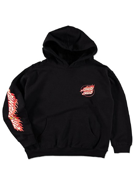 Santa Cruz Skateboards Black Flame Hand Hoodie