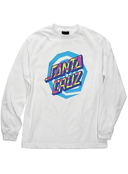 Santa Cruz Skateboards Kid's White Illusion Dot Tee