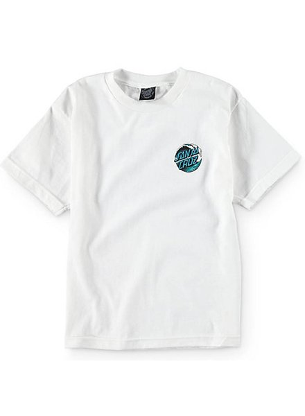 Santa Cruz Skateboards Kid's White Wave Dot Tee