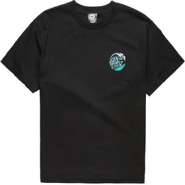 Santa Cruz Skateboards Kid's Black Wave Dot Tee