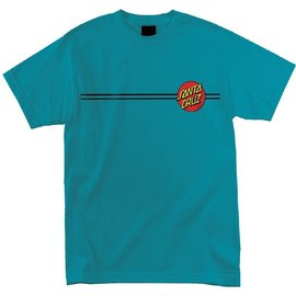 Santa Cruz Skateboards Kid's Turquoise Classic Dot Tee