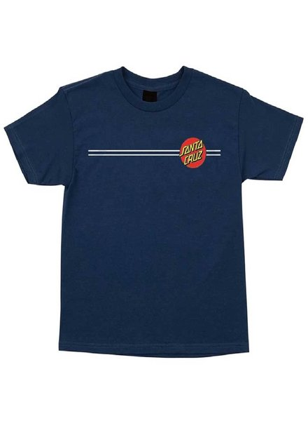 Santa Cruz Skateboards Kid's Harbor Blue Classic Dot Tee