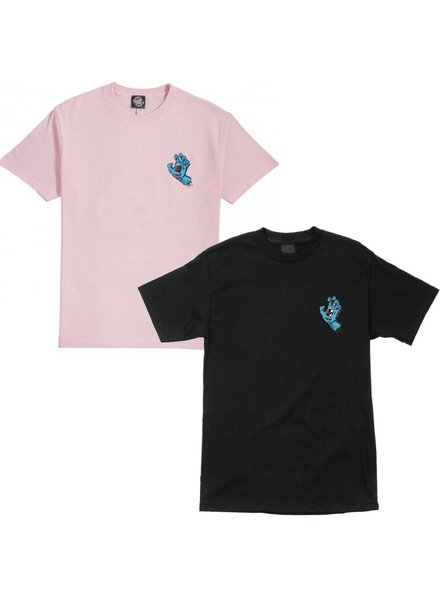 Santa Cruz Skateboards Women's Pink/Black Screaming Hand Tee