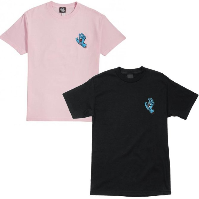 Santa Cruz Skateboards Women's Pink/Black Screaming Hand Tee