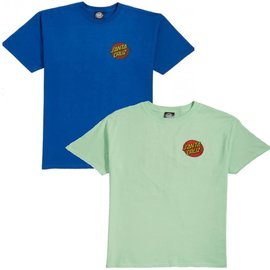 Santa Cruz Skateboards Royal Blue/Mint Classic Dot Chest Tee