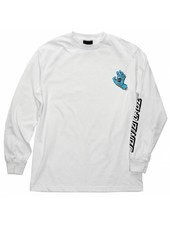 Santa Cruz Skateboards White Screaming Hand Long Sleeve Tee