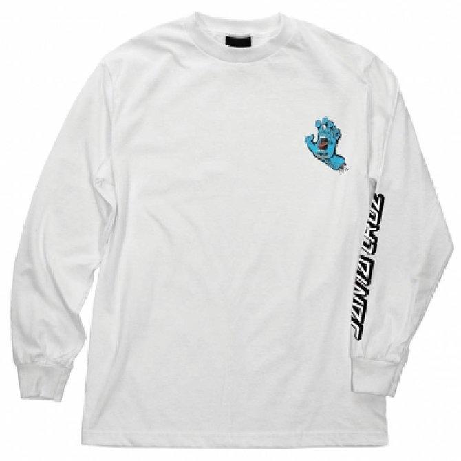 Santa Cruz Skateboards White Screaming Hand Long Sleeve Tee