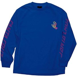 Royal Blue Screaming Hand Long Sleeve Tee