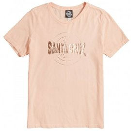 Santa Cruz Skateboards Women's Peach Rippling Tee