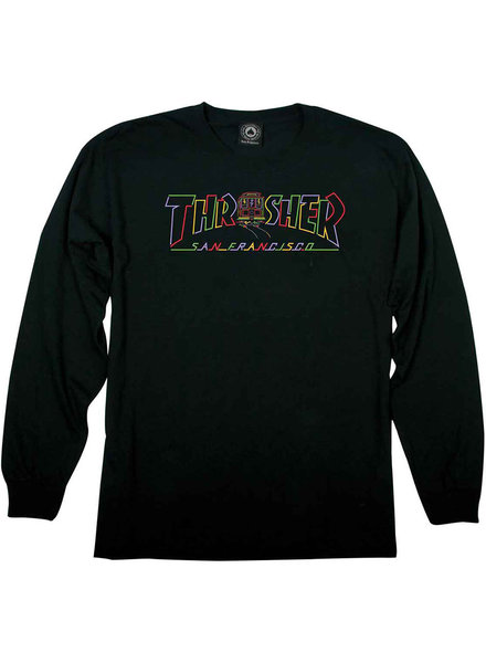 Thrasher Black Cable Car Long Sleeve