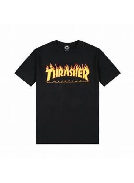 Thrasher BLACK FLAMES LOGO