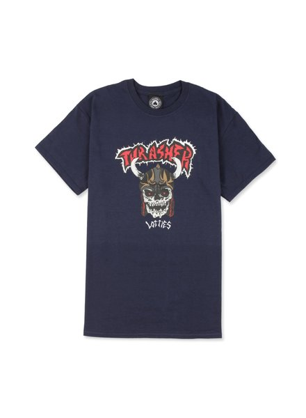 Thrasher Lotties Navy Tee