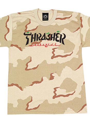 Thrasher Calligraphy Camo Tee