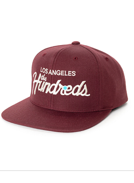 The Hundreds BURGUNDY HAT DIE