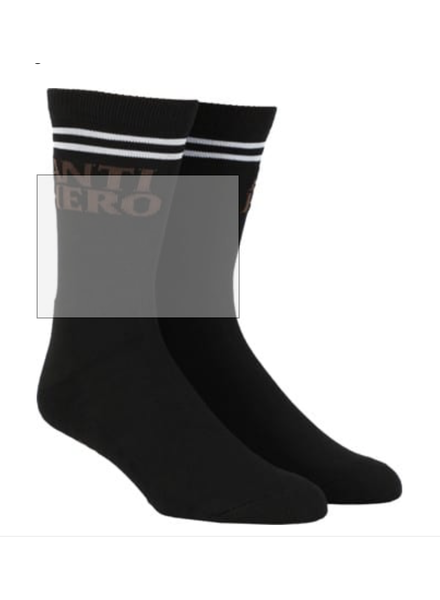 Anti Hero Skateboards AH SOCK BLKHERO IFFOUND (57020033C00)