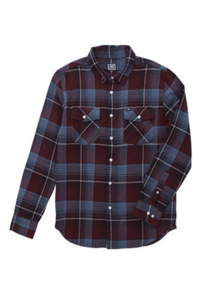 Loser Machine BUTTON UP TYRONE BLUE/RED