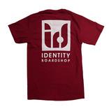 IDENTITY BOARDSHOP T-SHIRT IDENTITY LOGO BLACK WHITE PURPLE RED