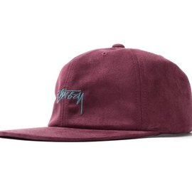 STUSSY BURGUNDY MICROFIBER CAP
