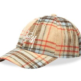 Stüssy STUSSY BIG LOGO PLAID LOW PRO CAP