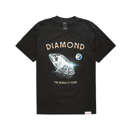 DIAMOND SUPPLY T SHIRT WORLD IS YOURS S/S