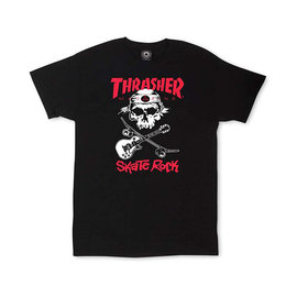 Thrasher NEW SK8 ROCK Short Sleeve Black Tee