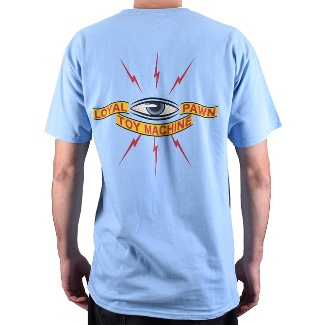 TOY MACHINE LOYAL PAWN LIGHT BLUE SHORT SLEEVE TEE (TSSTM3299)