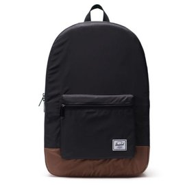 HERSCHEL HERSCHEL PACKABLE DAYPACK 70D RPSTOP BLK/SADDLE BROWN