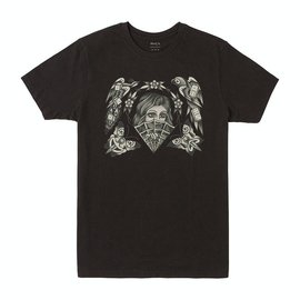 RVCA ELI FLASH SHORT SLEEVE RVCA M BLACK TEE