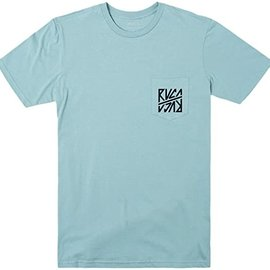 RVCA SEQUEL SHORT SLEEVE BERMUDA BLUE RVCA TEE