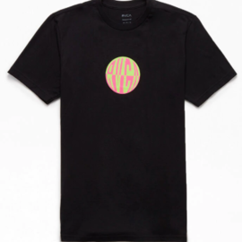 RVCA RAVE BALL SHORT SLEEVE M BLACK RCVA TEE